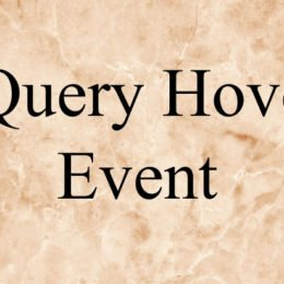 jquery hover