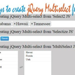 jquery multiselect