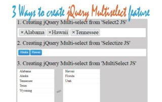 Learn 3 Ways to create jQuery Multiselect Feature in your Website