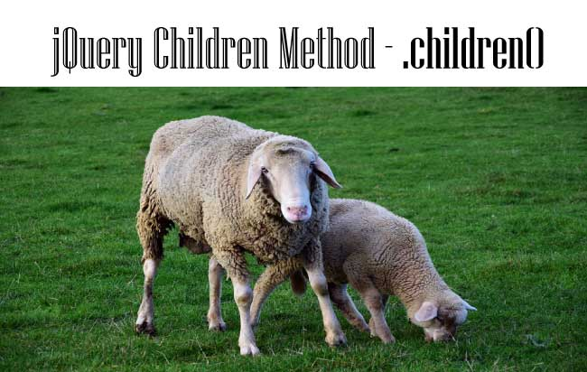 .children() – How to work with jQuery Children Method