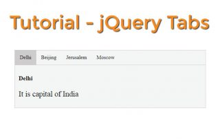 How to use jQuery Tabs feature in less than 1 minute