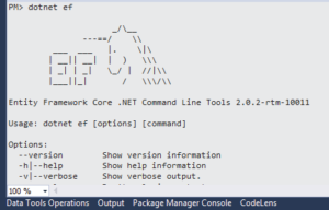 dotnet ef command