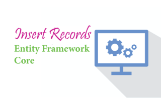 Insert Records in Entity Framework Core