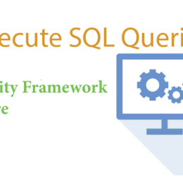 execute sql queries ef core