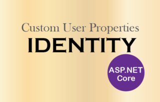 How to add Custom User Properties in ASP.NET Core Identity