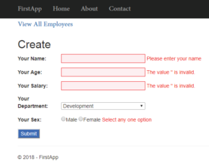 employee form after styling