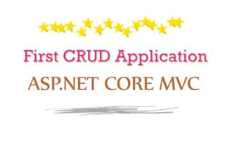 First CRUD Application in ASP.NET Core MVC