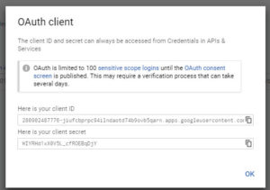 oauth client id secret