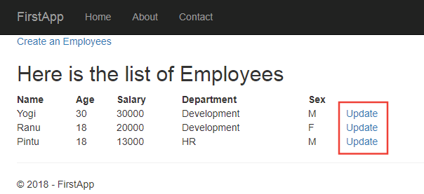 update links along all employees