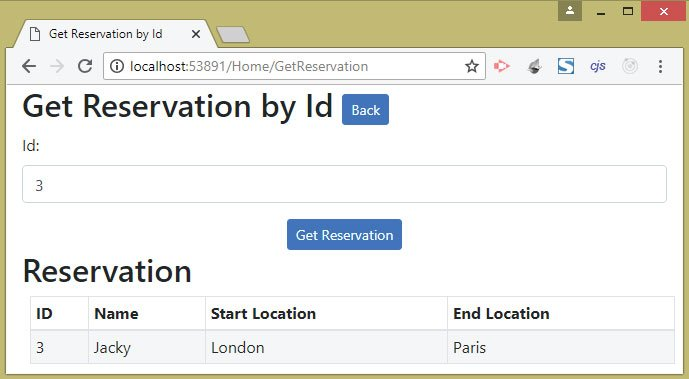 3rd reservation from api