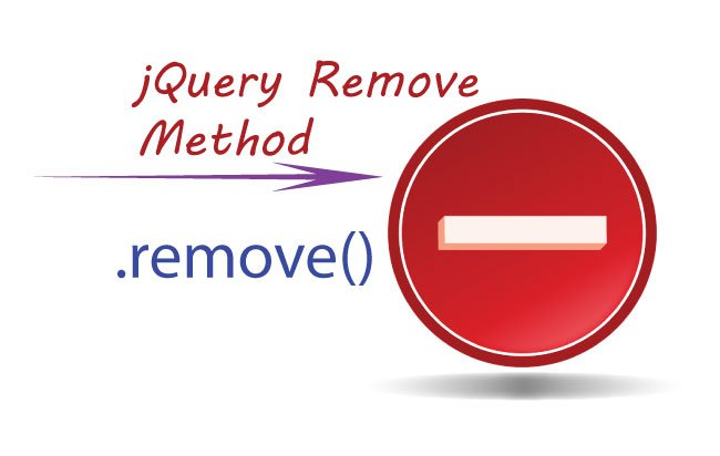 How to use jQuery Remove Method for removing Elements from DOM