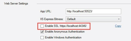 enable ssl for project