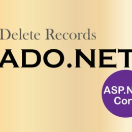 delete records ado.net aspnet-core
