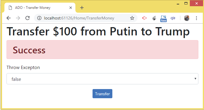 transaction success