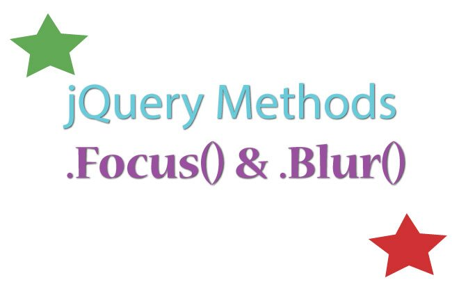 How to efficiently use jQuery Focus & Blur methods