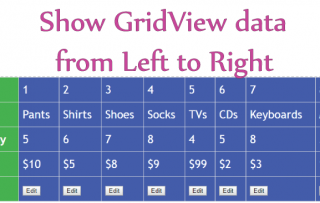 Show GridView Data in Left to Right manner
