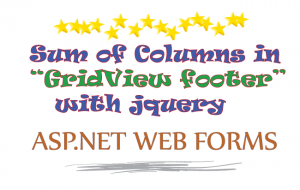 sum of columns gridview-footer