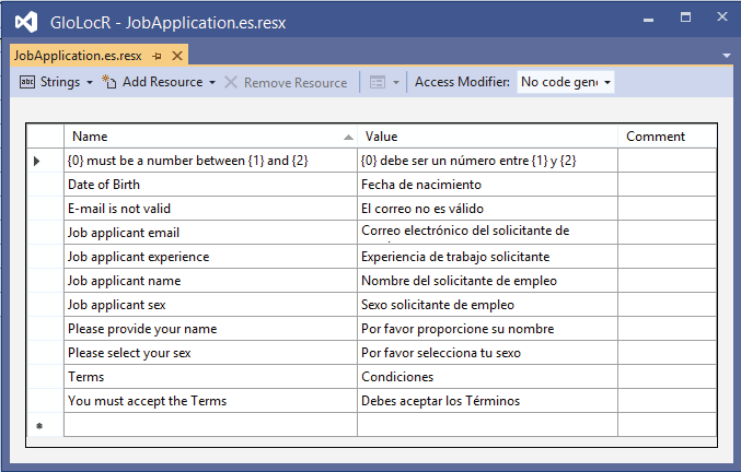 Spanish Language Resource File.resx