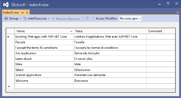 View French Resource File
