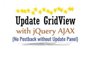 update gridview with jquery