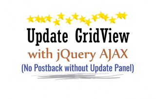 How to use jQuery to update records from inside the GridView with no Page Postback and without using Update Panel