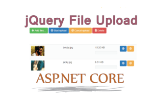 How to Quickly Implement BlueImp jQuery File Upload GitHub Plugin in ASP.NET Core