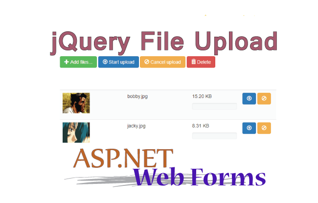 ASP.NET Web Forms – Implementation of BlueImp jQuery File Upload GitHub Plugin