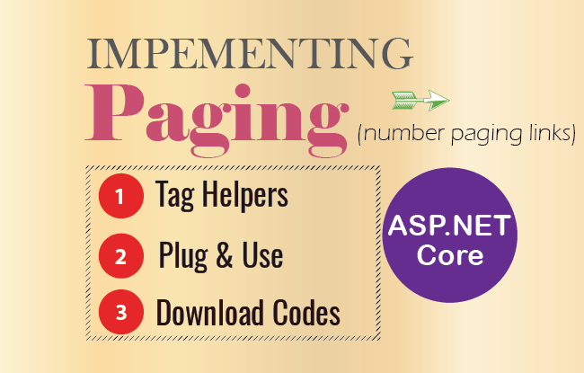 How to create Number Paging in ASP.NET Core using Tag Helpers