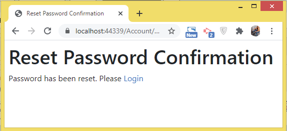 reset password confirmation identity