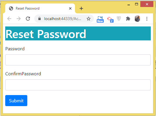 reset password page identity