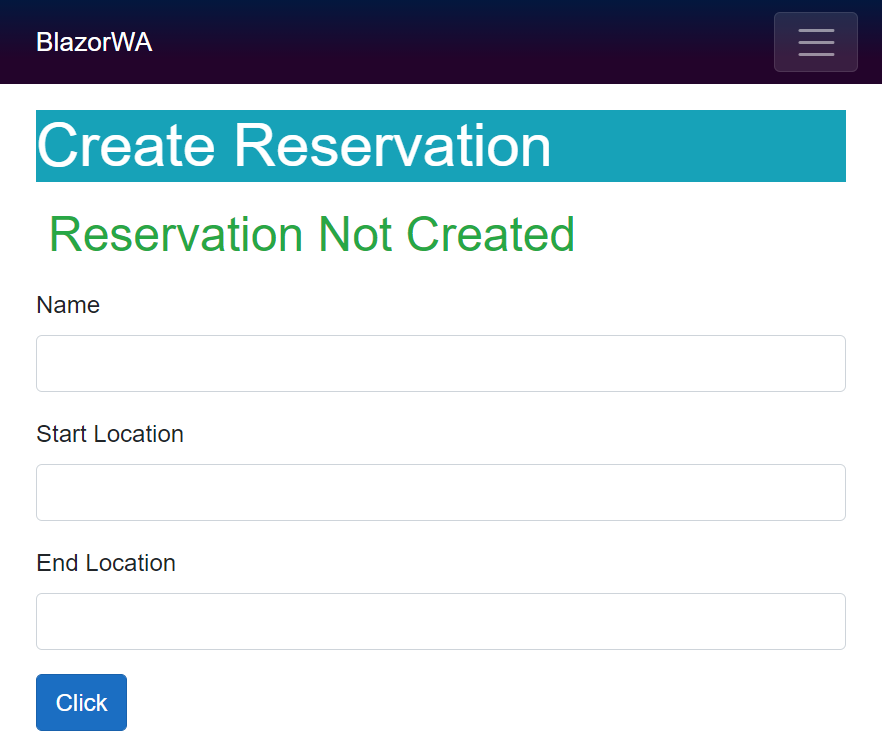 create reservation form