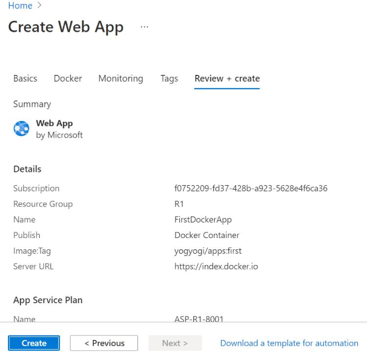 deploy asp.net core app azure