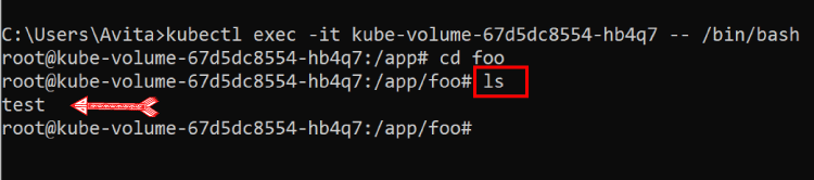 test file is available on container crashes